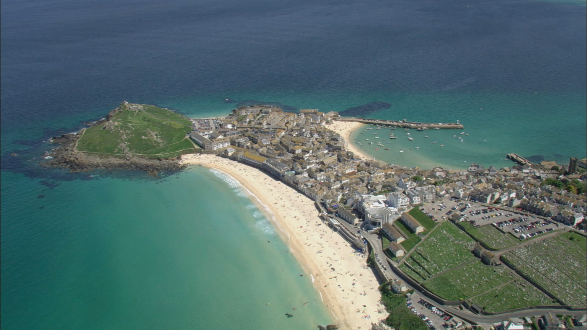 devon and cornwall cops - aeriel view of beach and coastline