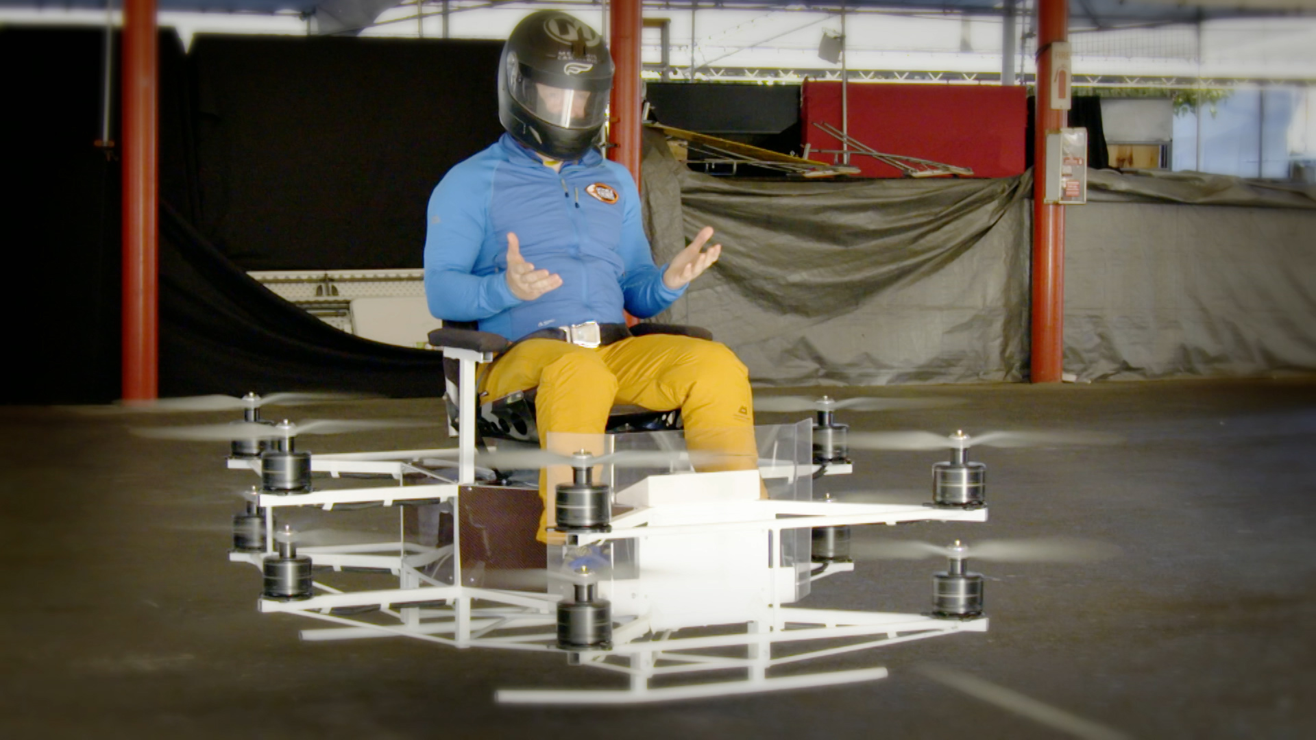 CBBC Beyond Bionic - Andy Torbet on a flying chair