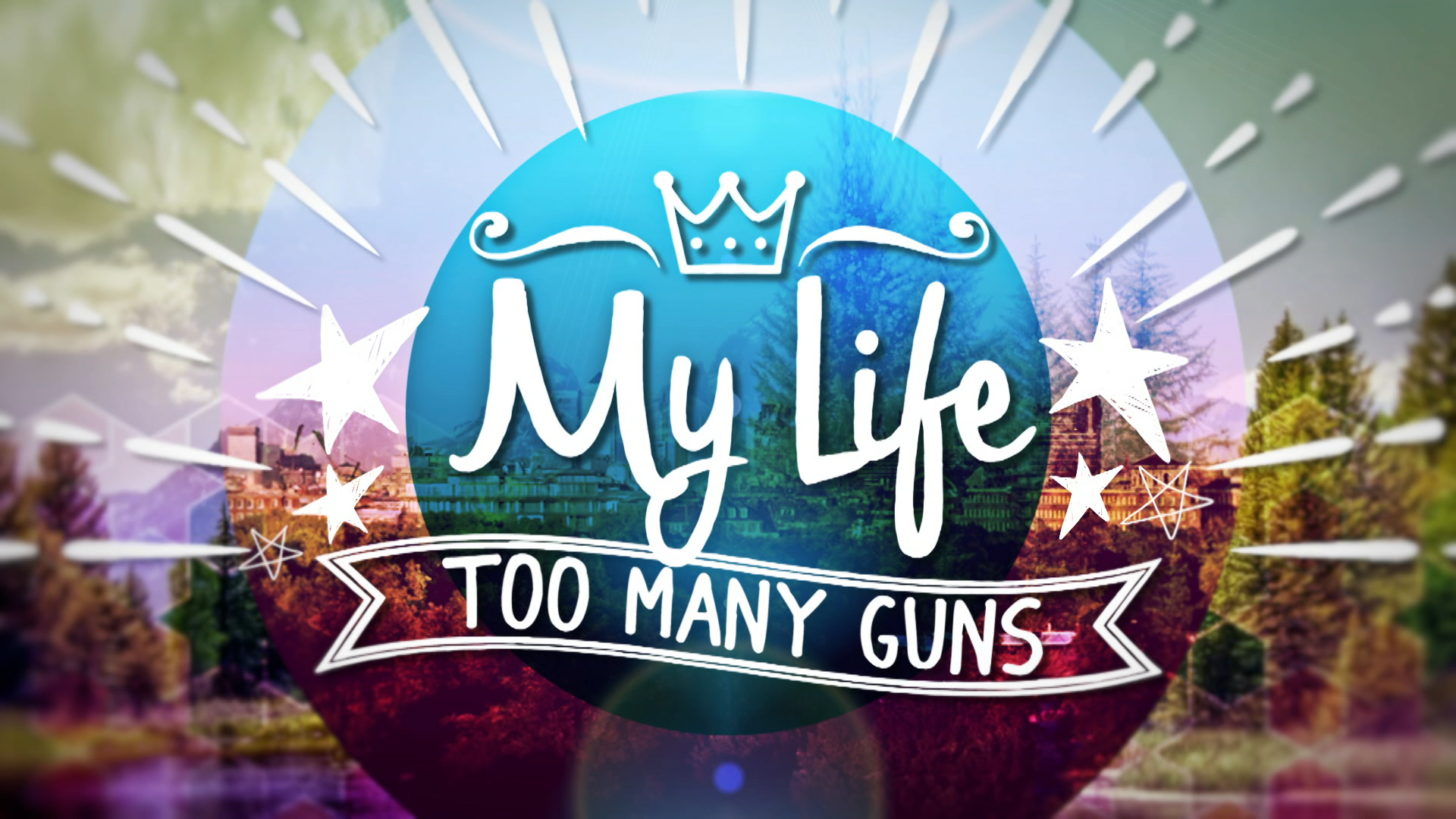 CBBC My Life: Too Many Guns - title card logo