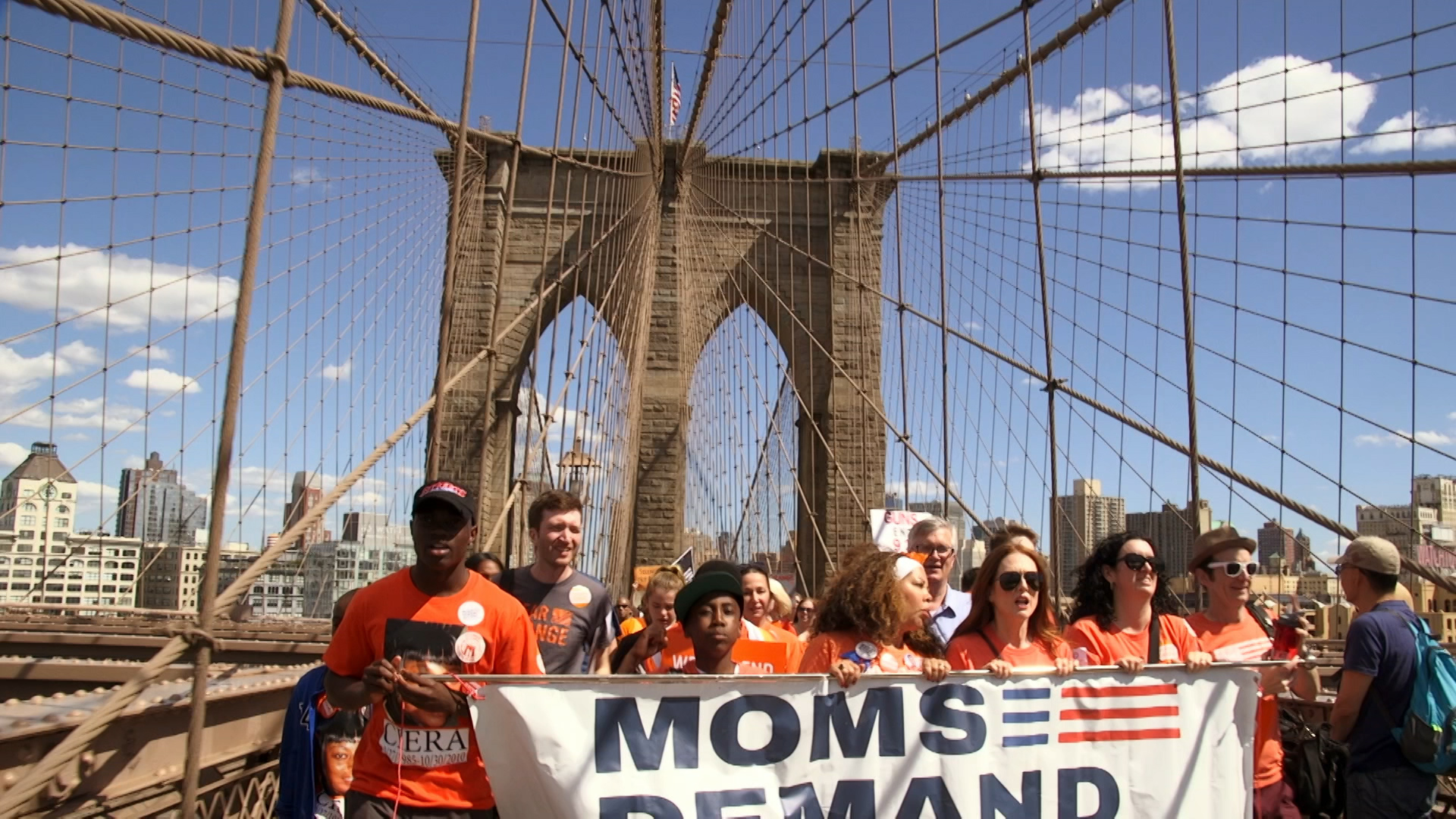 CBBC My Life: Too Many Guns - protest march on brooklyn bridge