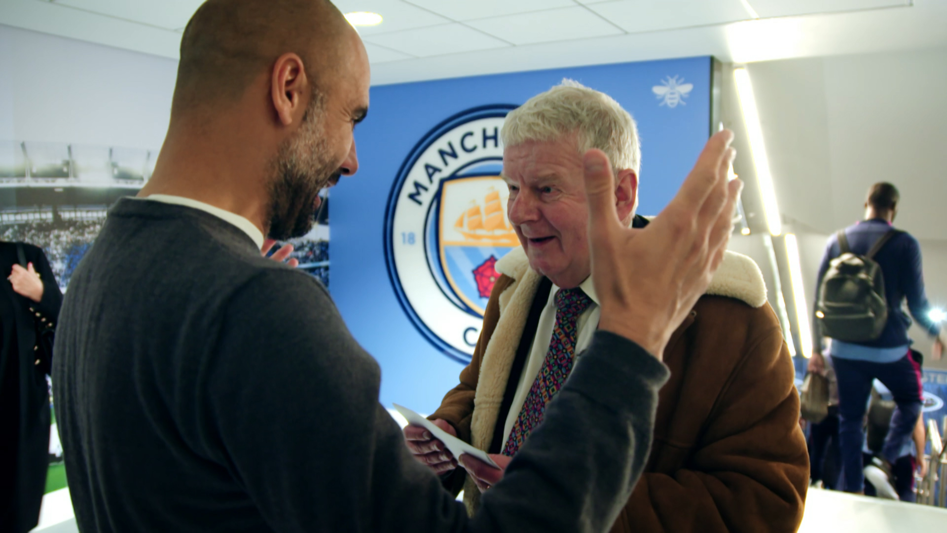 Motty: the man behind the sheepskin - John Motson meeting Pep Guardiola