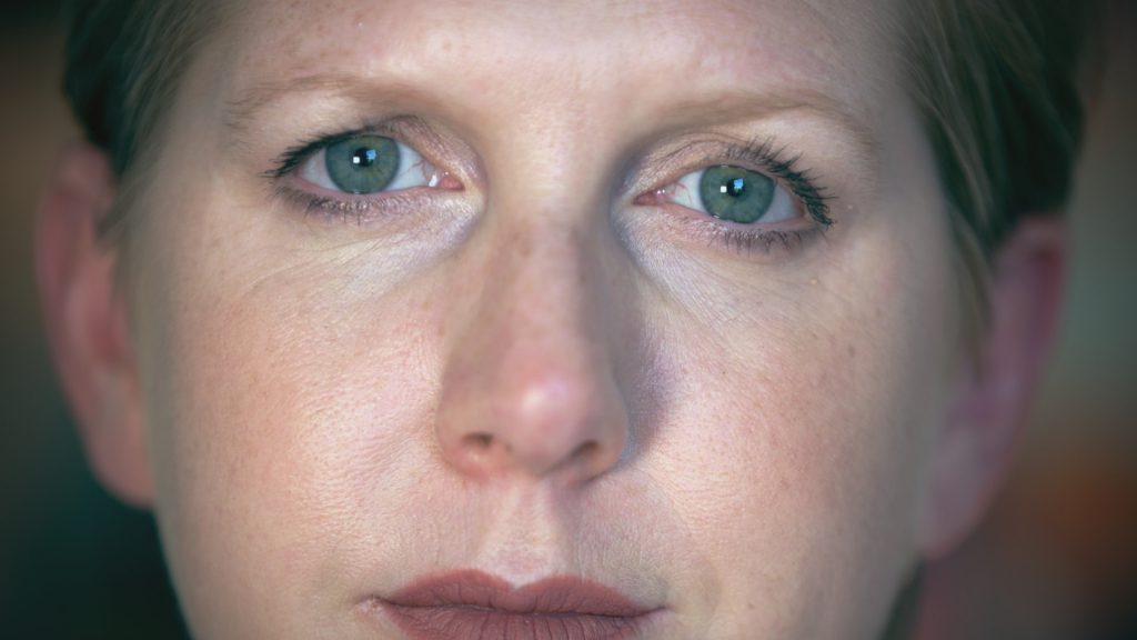 Written In Blood Episode 1 - Clare Mackintosh close up face