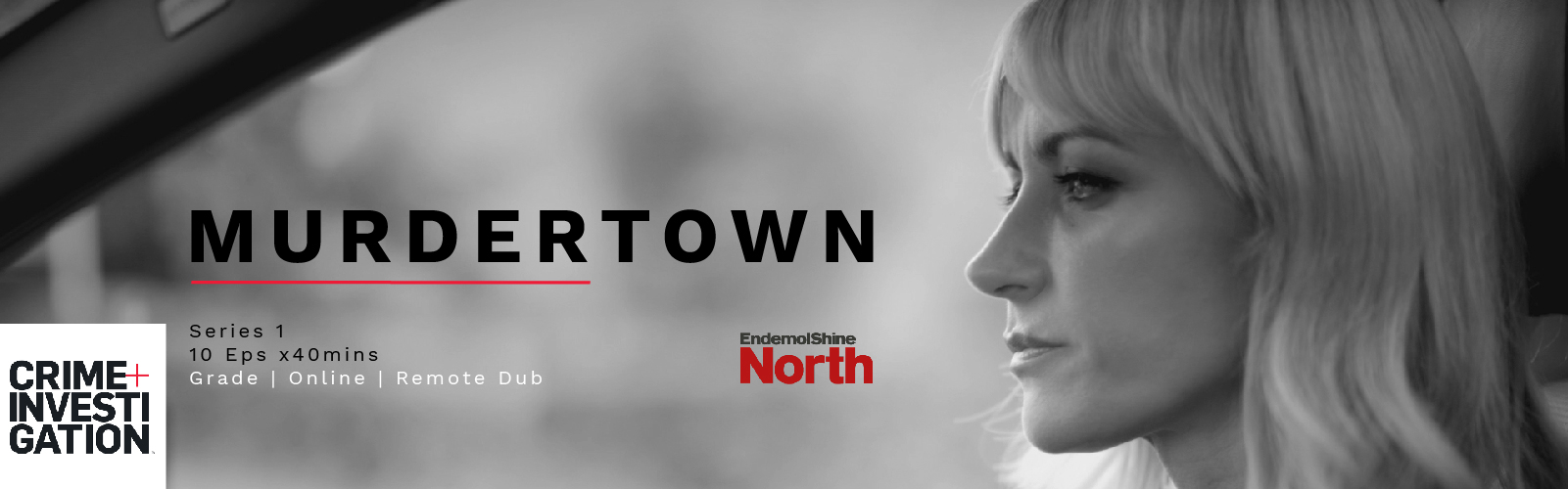 murdertown crime+investigation logo katherine kelly post production manchester