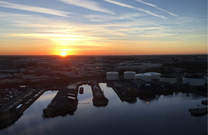 Phantom Sun - Sunset from our office in MediaCityUK