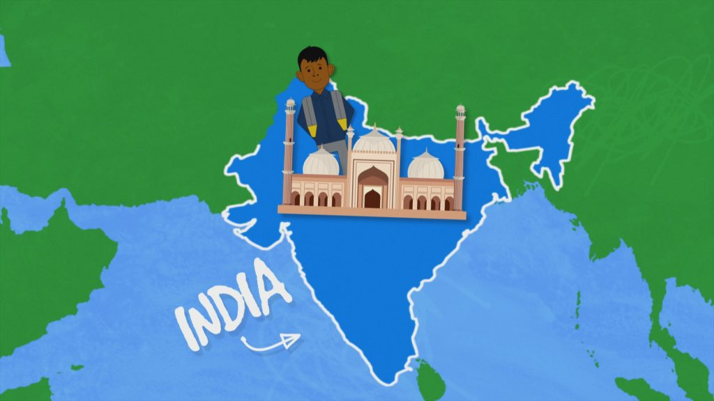 CBBC My Life The Street Reporter - India geographical animation